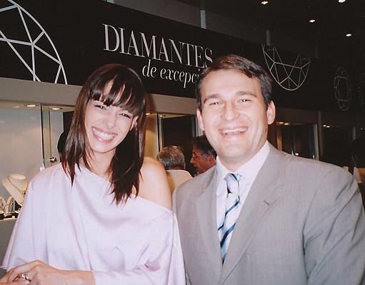 Eva Gonzalez Miss España 2003 y Raul Martin de Navas joyeros
