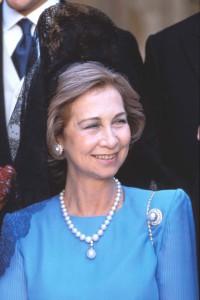 La Reina Sofía con la perla La Peregrina