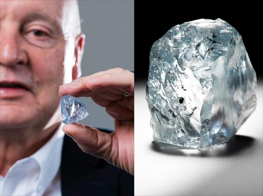 Descubierto diamante azul