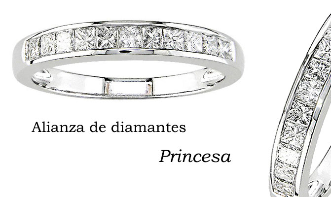 alianza de diamantes princesa