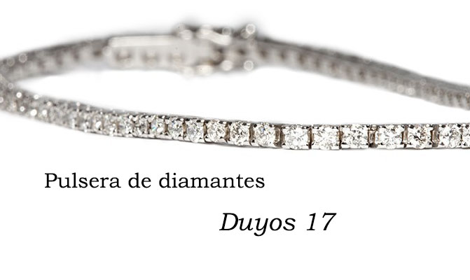 pulsera de diamantes duyos