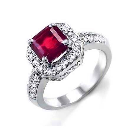 anillo de rubí y diamantes Teide