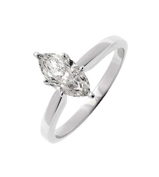 Solitario de diamantes MARQUISE