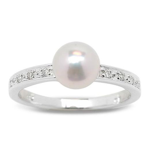 anillo de perla y diamantes guacimara