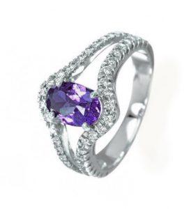 ROYAL, Sortija de amatista y diamantes
