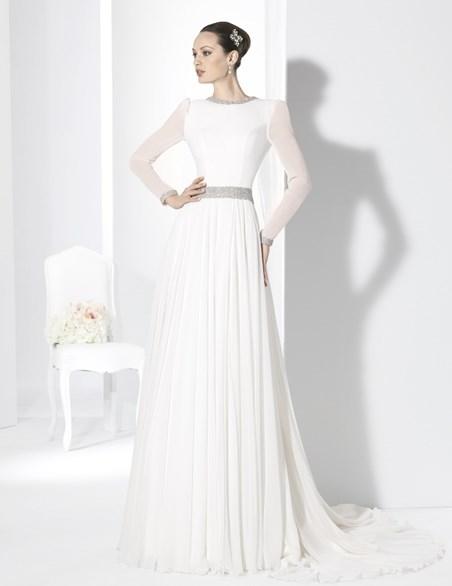 Vestidos de manga larga para novias
