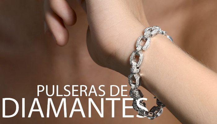 pulsera de oro con diamantes