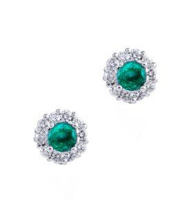 Pendientes de diamantes y esmeraldas LILIANA
